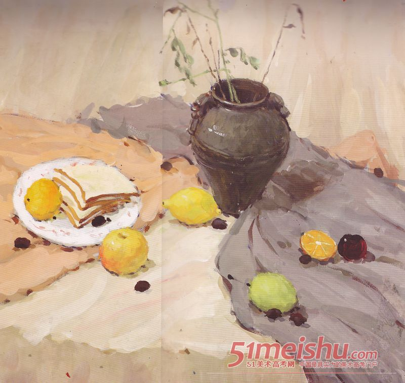 水彩静物作品 欣赏075 中央美术学院 51美术