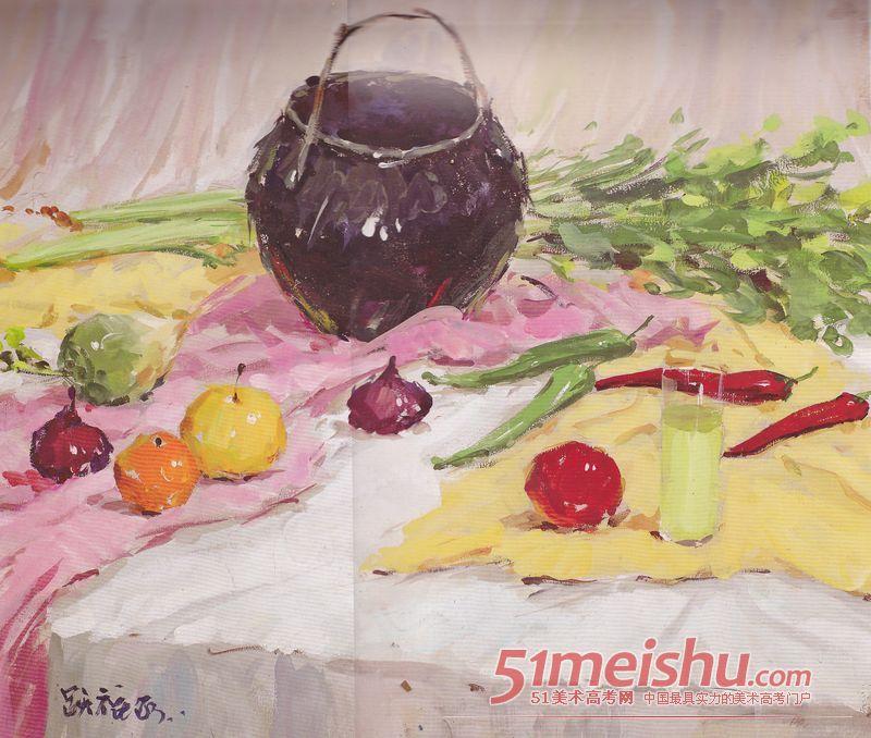 水彩静物作品欣赏 074 中央美术学院 51美术