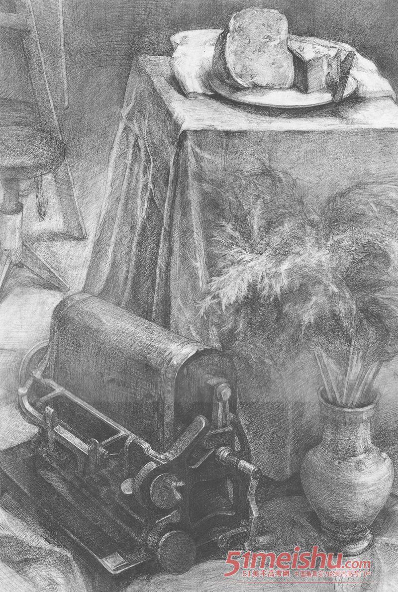 中央美术学院优秀静物素描精品014D5032_十字绣鱼图赏图纸图片