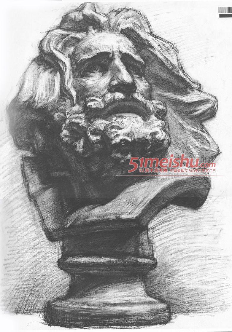 冉茂芹素描石膏像,素描石膏像名字大全,素描石膏像,素描石膏像