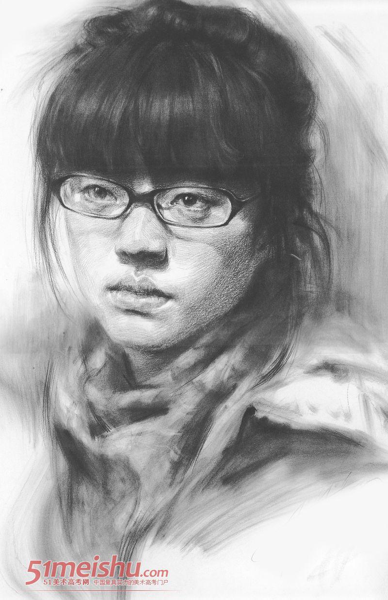 鲁迅美术学院优秀头像素描作品欣赏0342018搞笑罗c图梅西图片