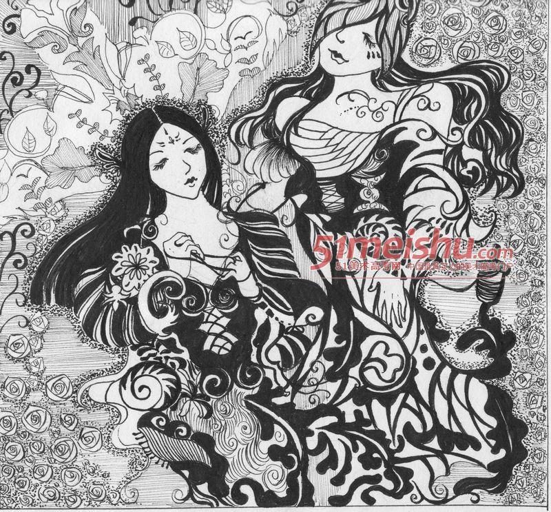 优秀黑白装饰画作品赏析022黑白装饰画 - 51