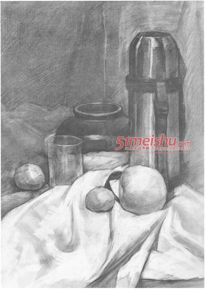 美术画法正规v美术-图纸绘画静物16下发通知素描图片