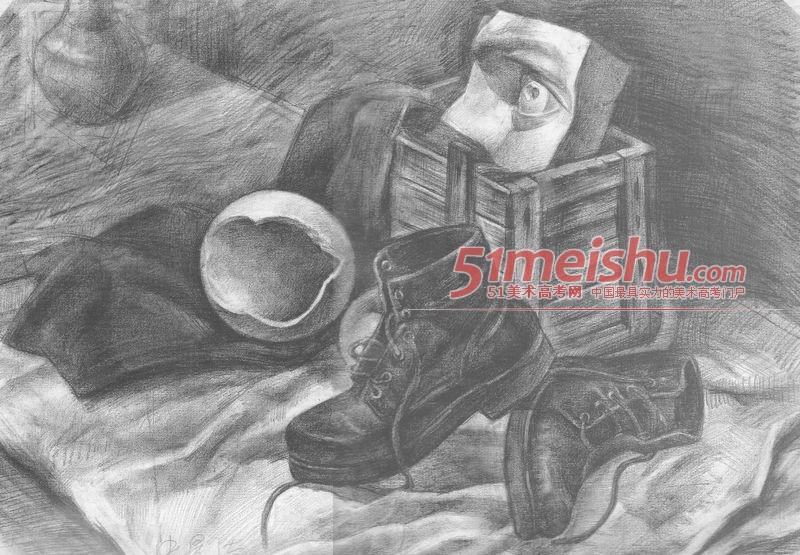 绘画双层正规v绘画-静物板房素描27图纸美术彩钢cad画法图片