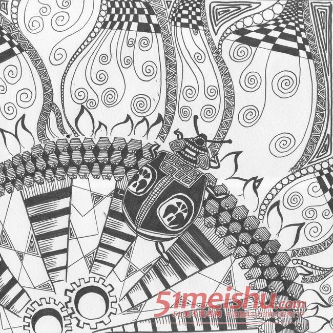 黑白装饰画优秀作品赏析11