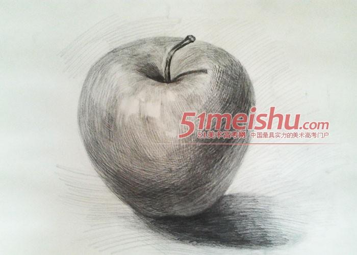 素描静物作品-静物苹果素描作品-梁书豪投稿