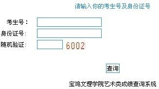 宝鸡文理学院2012年艺术类成绩查询系统.jpg